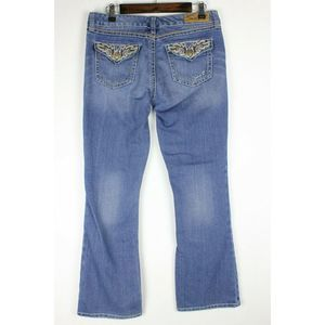 Seven7 Jeans - Seven7 Jeans Bootcut Blue Embroidered Flaps